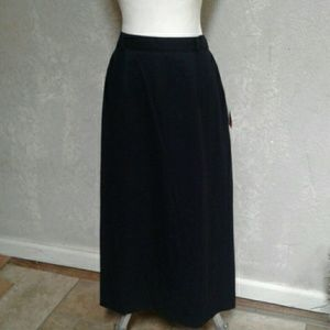 Nwt Sag Harbor Women's Navy Maxi Skirt  14